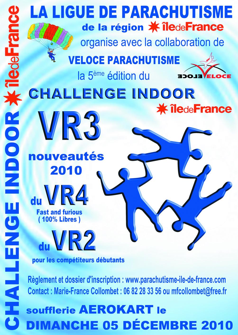 Challenge Indoor VR3 Ile de France 2010